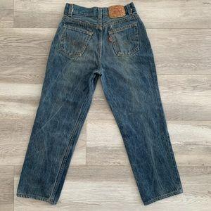 Levi's jeans 501 vintage dark wash fade